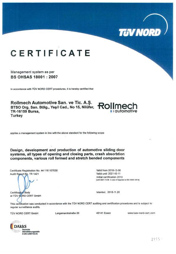 BS OHSAS 18001 2007